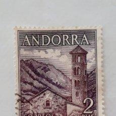 Sellos: SELLO 2 PESETAS ANDORRA Nº 63, IGLESIA DE SANTA COLOMA, USADO. Lote 261973765