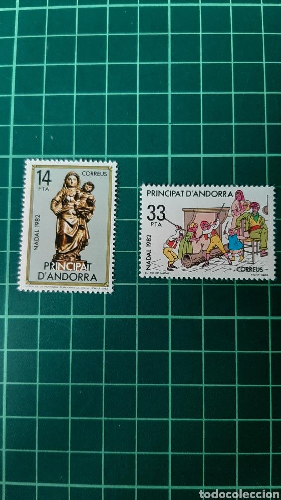 NAVIDAD 1982 ANDORRA ESPAÑOLA EDIFIL 166/7 NUEVA FILATELIA COLISEVM VER MIS LOTES (Sellos - España - Dependencias Postales - Andorra Española)