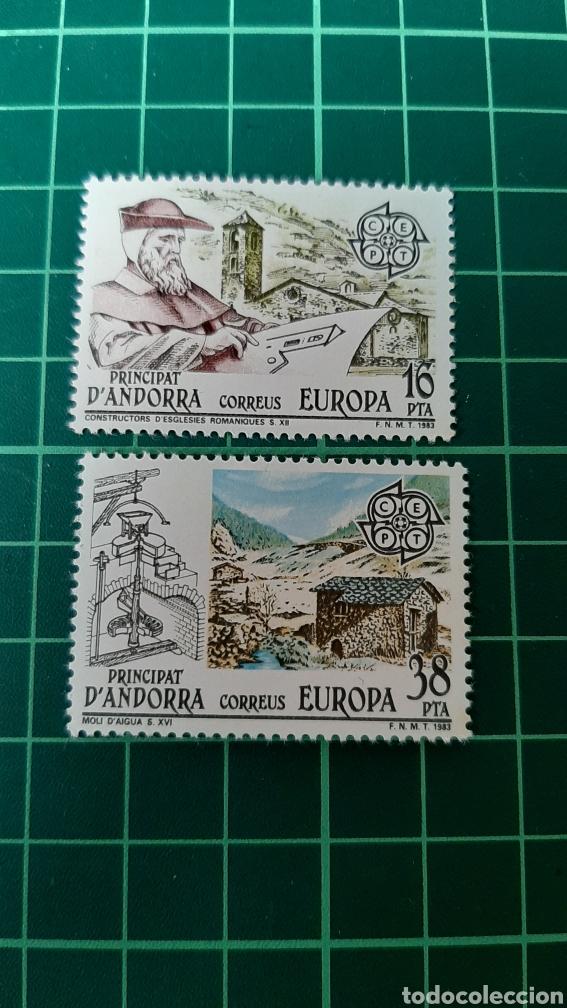 EUROPA 1983 EDIFIL 168/9 ARQUITECTURA PAISAJES NATURALEZA ANDORRA ESPAÑOLA FILATELIA COLISEVM (Sellos - España - Dependencias Postales - Andorra Española)