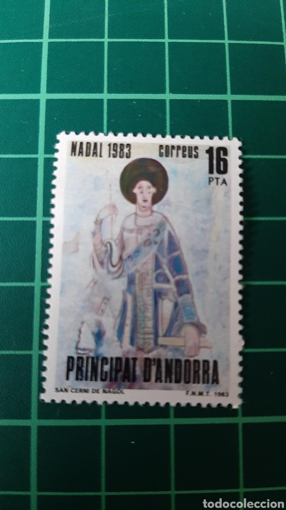 1983 ANDORRA ESPAÑOLA EDIFIL 174 NUEVA NAVIDAD ARTE RELIGIÓN FILATELIA COLISEVM (Sellos - España - Dependencias Postales - Andorra Española)