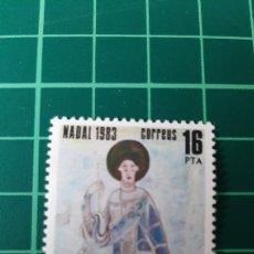 Sellos: 1983 ANDORRA ESPAÑOLA EDIFIL 174 NUEVA NAVIDAD ARTE RELIGIÓN FILATELIA COLISEVM. Lote 262038915
