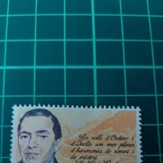 Sellos: 1983 ANDORRA ESPAÑOLA EDIFIL 172 PERSONAJES MONSSEN VERDAGUER RELIGIÓN. Lote 262039355