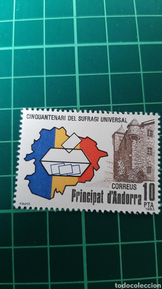 1983 ANDORRA ESPAÑOLA EDIFIL 171 NUEVA SUFRAGIO UNIVERSAL ARQUITECTÓNICO (Sellos - España - Dependencias Postales - Andorra Española)