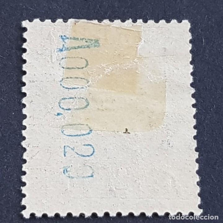Sellos: ANDORRA, 1929, EDIFIL 19*, PAISAJES, SAN JULIÁN DE LORIA, FIJASELLO, Nº SERIE A000,020, ( LOTE AB ) - Foto 2 - 262046580