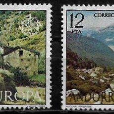 Sellos: ANDORRA - EUROPA - EDIFIL 108-109 - 1977 - NUEVOS. Lote 262866645