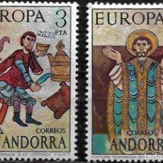 Sellos: ANDORRA - EUROPA - EDIFIL 97-98 - 1975 - NUEVOS. Lote 262867075