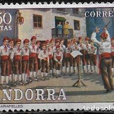 Sellos: ANDORRA - COSTUMBRES POPULARES - EDIFIL 81 - 1972 - NUEVO. Lote 262867625