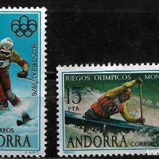 Sellos: ANDORRA - XXI JUEGOS OLIMPICOS DE MONTREAL - EDIFIL 104-105 - 1976 - NUEVOS. Lote 262868480