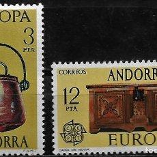 Sellos: ANDORRA - EUROPA - EDIFIL 102-103 - 1976 - NUEVOS. Lote 262869090