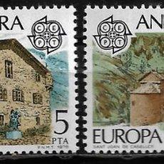 Sellos: ANDORRA - EUROPA - EDIFIL 117-118 - 1978 - NUEVOS. Lote 262870460