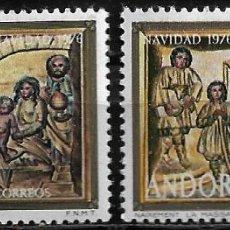 Sellos: ANDORRA - NAVIDAD - EDIFIL 144-145 - 1981 - NUEVOS. Lote 262872195