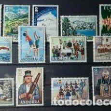 Selos: ANDORRA ESPAÑOLA 1972 AÑO COMPLETO NUEVOS SIN CHARNELA CATALOGO 120€. Lote 267129379