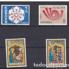Selos: ANDORRA ESPAÑOLA 1973 AÑO COMPLETO NUEVOS SIN CHARNELA. Lote 267129409