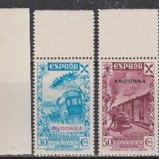 Sellos: 1938 ANDORRA HISTORIA DEL CORREO (CON ZEPPELIN). DE LUJO**. 485 €. Lote 267595404
