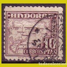 Sellos: ANDORRA 1948 TIPOS Y PAISAJE, EDIFIL Nº 57 (O). Lote 271399758