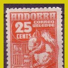 Sellos: ANDORRA 1948 TIPOS Y PAISAJE, EDIFIL Nº 58 *. Lote 271399893