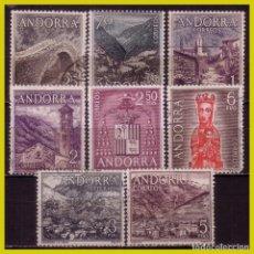 Sellos: ANDORRA 1963 SERIE BÁSICA, EDIFIL Nº 60 A 67 (O) / *. Lote 271409823