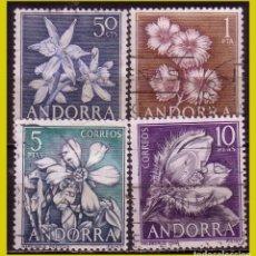 Sellos: ANDORRA 1966 FLORES DE ANDORRA, EDIFIL Nº 68 A 71 (O). Lote 271410723