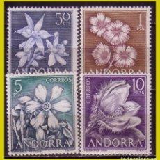 Sellos: ANDORRA 1966 FLORES DE ANDORRA, EDIFIL Nº 68 A 71 * *. Lote 271410868