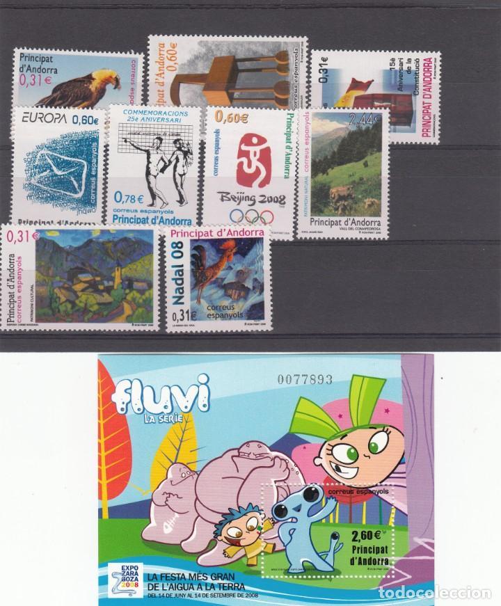 ANDORRA ESPAÑOLA 2008 - AÑO COMPLETO - A VALOR FACIAL (Sellos - España - Dependencias Postales - Andorra Española)