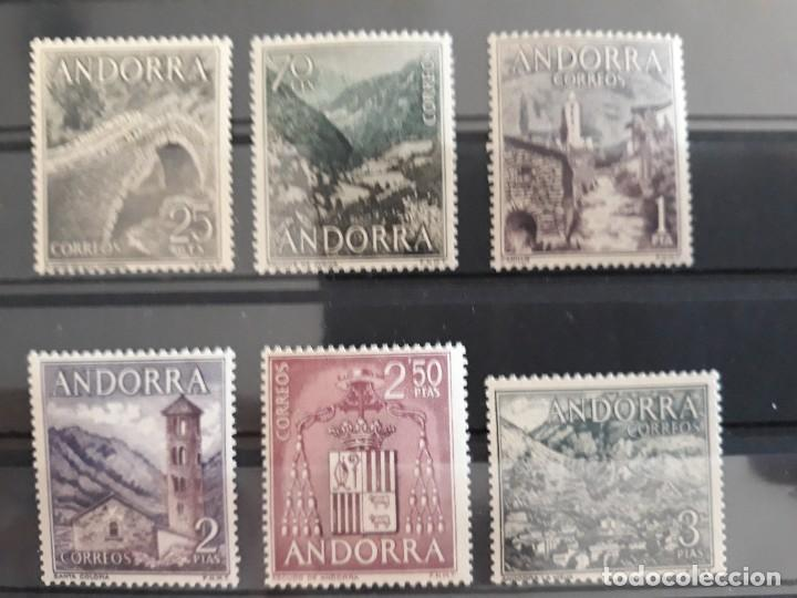 ANDORRA EDIFIL 60 ** A 65 ** SERIE CORTA 1963 (Sellos - España - Dependencias Postales - Andorra Española)