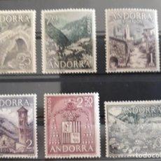 Sellos: ANDORRA EDIFIL 60 ** A 65 ** SERIE CORTA 1963. Lote 277255533