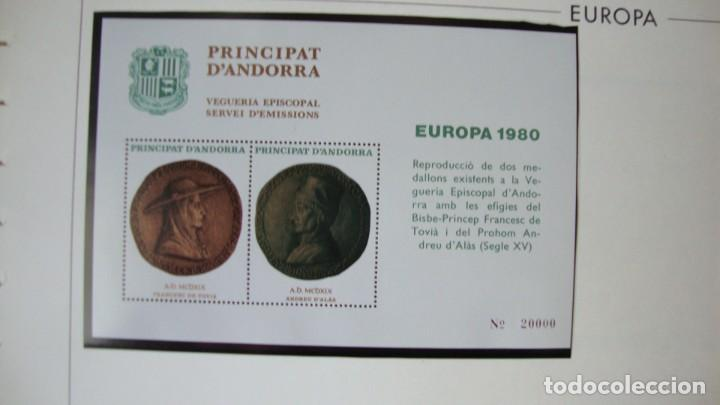 ANDORRA HOJITAS VEGUERIA EPISCOPAL TEMA ERUROPA NUEVAS PERFECTAS (Sellos - España - Dependencias Postales - Andorra Española)