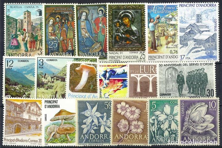 LOTE SELLOS ANDORRA ESPAÑOLA (Sellos - España - Dependencias Postales - Andorra Española)