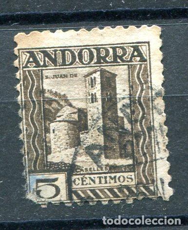 EDIFIL 29 DE ANDORRA. 5 CTS PAISAJES, SIN NÚMERO CONTROL, USADO Y ADELGAZADO (Sellos - España - Dependencias Postales - Andorra Española)