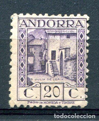 EDIFIL 34 DE ANDORRA. 20 CTS PAISAJES, SIN NÚMERO CONTROL. NUEVO SIN GOMA. (Sellos - España - Dependencias Postales - Andorra Española)