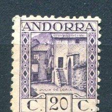 Sellos: EDIFIL 34 DE ANDORRA. 20 CTS PAISAJES, SIN NÚMERO CONTROL. NUEVO SIN GOMA.. Lote 287231068