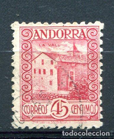 EDIFIL 38 DE ANDORRA. 45 CTS PAISAJES, SIN NÚMERO CONTROL. USADO (Sellos - España - Dependencias Postales - Andorra Española)