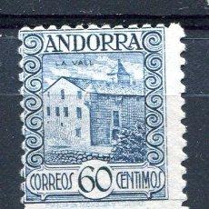 Sellos: EDIFIL 40 DE ANDORRA. 60 CTS PAISAJES, SIN NÚMERO CONTROL. NUEVO SIN GOMA. Lote 287232053