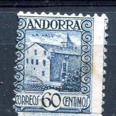 Sellos: EDIFIL 40 DE ANDORRA. 60 CTS PAISAJES, SIN NÚMERO CONTROL. USADO. Lote 287232173