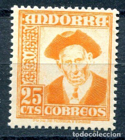 EDIFIL 49 DE ANDORRA. 25 CTS PAISAJES, NUEVO SIN FIJASELLOS (Sellos - España - Dependencias Postales - Andorra Española)