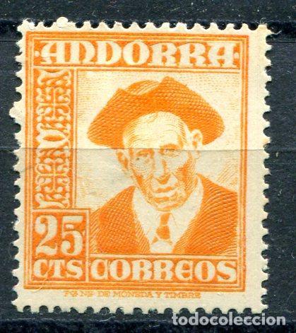 EDIFIL 49 DE ANDORRA. 25 CTS PAISAJES, NUEVO CON FIJASELLOS (Sellos - España - Dependencias Postales - Andorra Española)