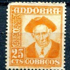 Sellos: EDIFIL 49 DE ANDORRA. 25 CTS PAISAJES, NUEVO SIN GOMA. Lote 287232688