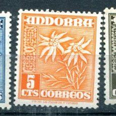Sellos: EDIFIL 45 AL 47 DE ANDORRA. 3 SELLOS, TEMA FLORES, NUEVOS SIN FIJASELLOS. Lote 287232868