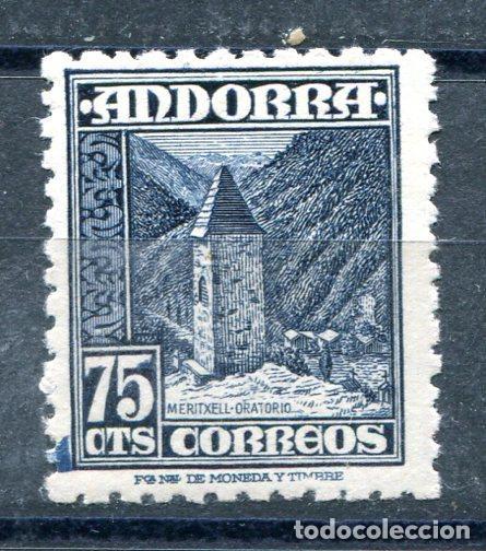 EDIFIL 52 DE ANDORRA. 75 CTS PAISAJES. NUEVO SIN FIJASELLOS (Sellos - España - Dependencias Postales - Andorra Española)