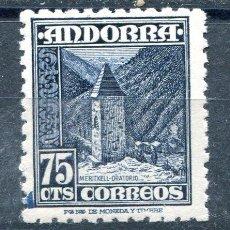 Sellos: EDIFIL 52 DE ANDORRA. 75 CTS PAISAJES. NUEVO SIN FIJASELLOS. Lote 287233303