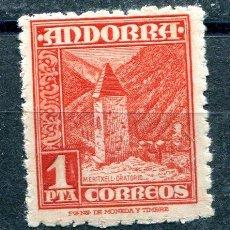 Sellos: EDIFIL 54 DE ANDORRA.1 PTA PAISAJES. NUEVO SIN FIJASELLOS. Lote 287233498