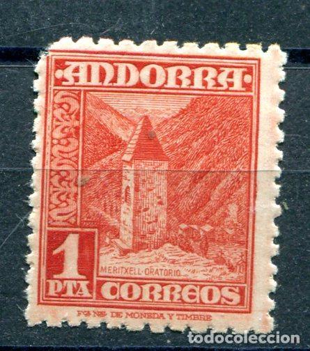 EDIFIL 54 DE ANDORRA.1 PTA PAISAJES. NUEVO SIN FIJASELLOS, PERO LE FALTA UN DIENTE (Sellos - España - Dependencias Postales - Andorra Española)