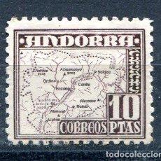 Sellos: EDIFIL 57 DE ANDORRA. 10 PTS PAISAJES. NUEVO CON FIJASELLOS.. Lote 287235783