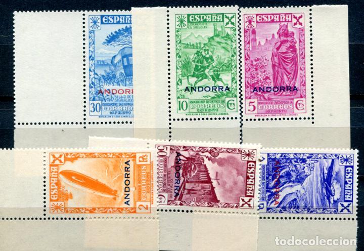 EDIFIL 7/12 DE BENEFICENCIA DE ANDORRA, SERIE COMPLETA, LETRAS GRANDES. NUEVO SIN FIJASELLOS. (Sellos - España - Dependencias Postales - Andorra Española)
