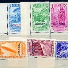 Sellos: EDIFIL 7/12 DE BENEFICENCIA DE ANDORRA, SERIE COMPLETA, LETRAS GRANDES. NUEVO SIN FIJASELLOS.. Lote 287236363