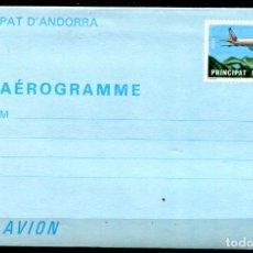 Sellos: AEROGRAMA DE ANDORRA, NUEVO.. Lote 287237143