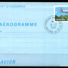 Sellos: AEROGRAMA DE ANDORRA, MATASELLO DE FAVOR.. Lote 287237233