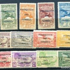 Sellos: EDIFIL NE 25 AL 36 DE ANDORRA, NUEVOS SIN FIJASELLOS.. Lote 287237703