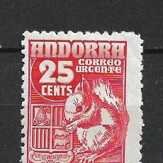 Sellos: ANDORRA 1948-53 EDIFIL 58 * MH - 19/10. Lote 287541753