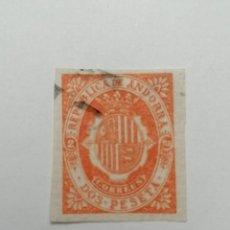 Sellos: SELLO ANDORRA ESPAÑOLA,1896,2 PESETAS . , MATASELLADO., SIN DENTAR. Lote 287867603
